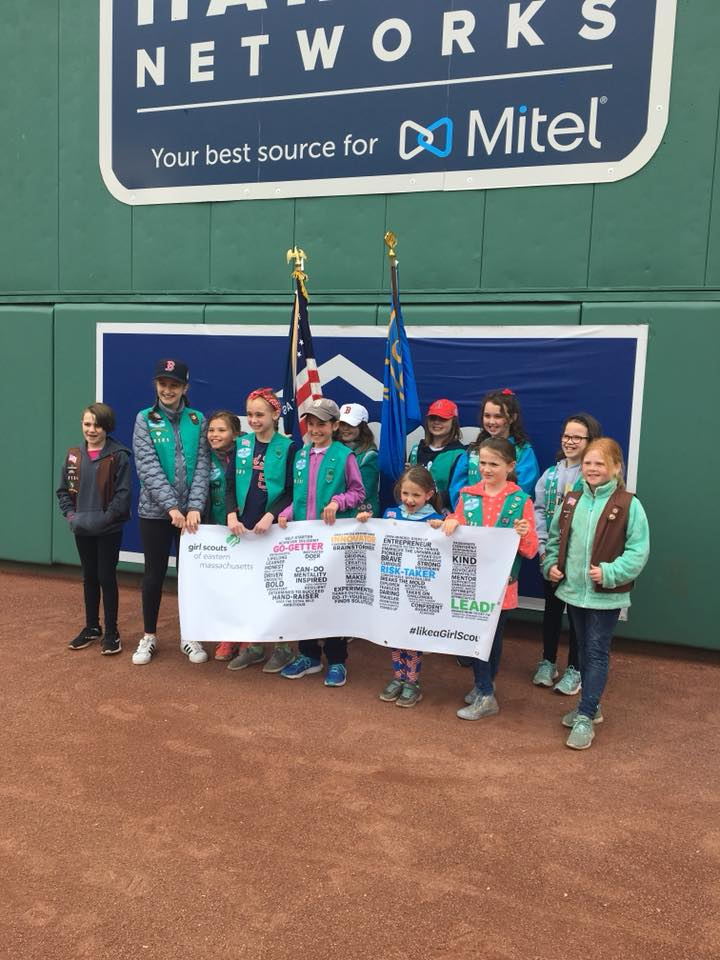 Girl Scouts Go to Fenway