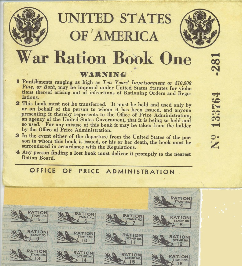 WWII Rationing Book